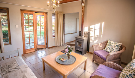 Plett Cottage living areas - Honeybadger Lodge
